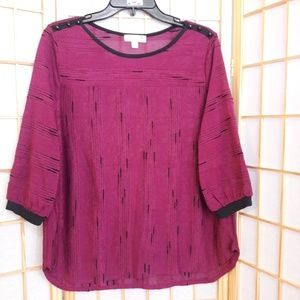 John Paul Richard  Long Sleeve Semi Sheer Top PL